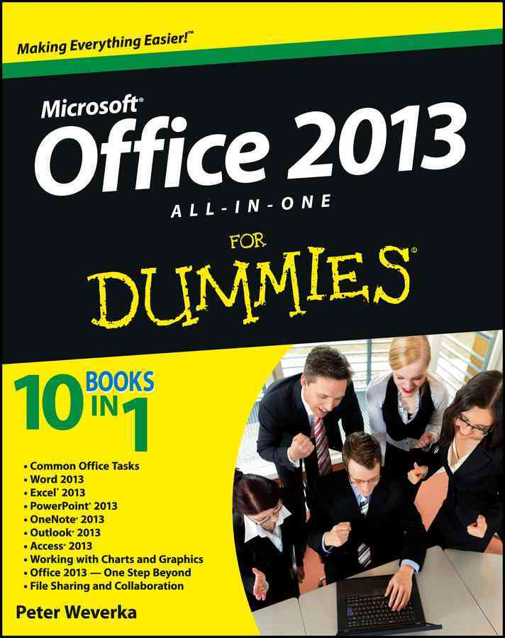 Office 2013 All-In-One for Dummies By Weverka, Peter
